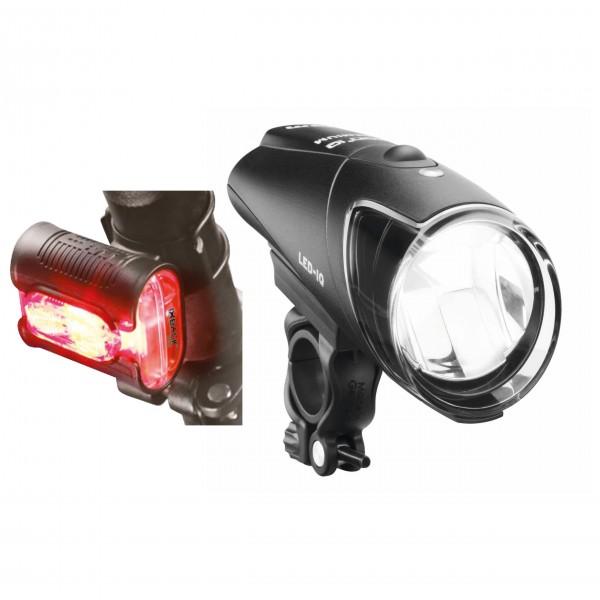 Busch & Müller - Akku-LED-Leuchtenset Ixon IQ / IXBack Senso - Fahrradlampen-Set