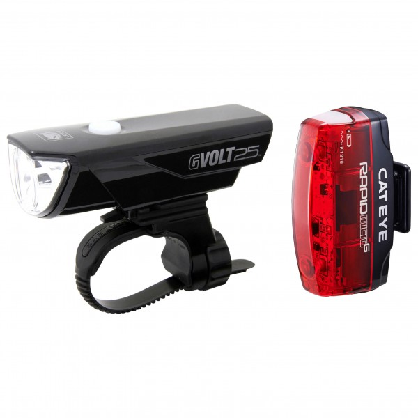 CatEye - Kit GVolt 25 HL-EL360GRC + Rapid Micro G HL-EL620G - Fahrradlampe