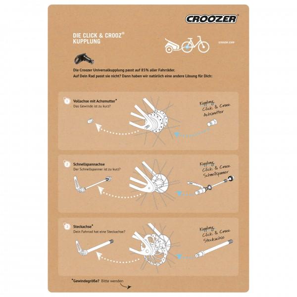 croozer kupplung click crooz universal online kaufen. Black Bedroom Furniture Sets. Home Design Ideas