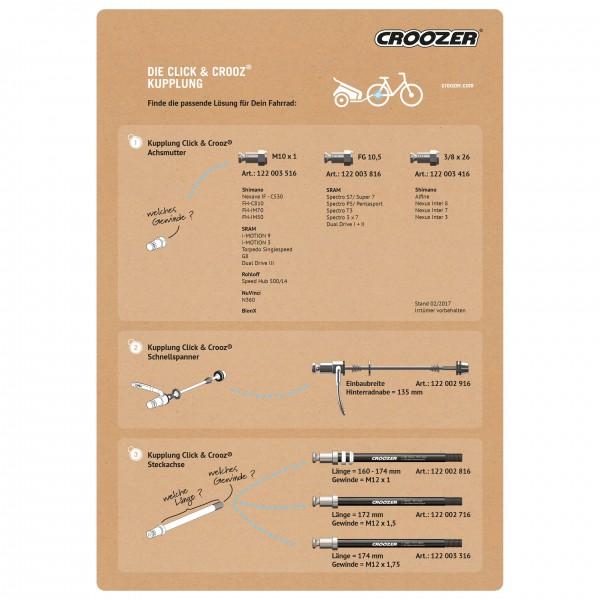 croozer stecksadapter f r kupplung universal. Black Bedroom Furniture Sets. Home Design Ideas
