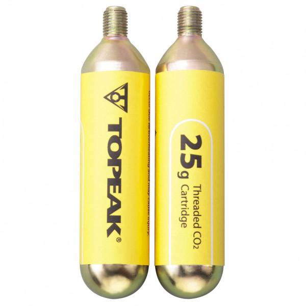 Topeak - CO2 Kartuschen mit Gewinde (2er Set) - CO2-Pumpe