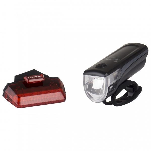 Contec - Akku-LED-Leuchtenset Speed-LED USB - Fahrradlampen-Set