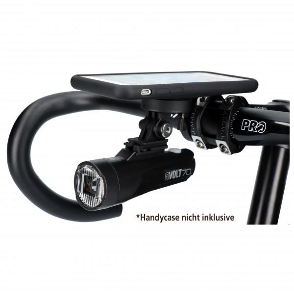 CatEye - GVolt70 + SP Out-Front-Halter + Adapter - Fahrradlampe
