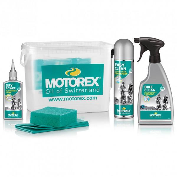 Motorex - Bike-Kit Eimer (Dry Power, Bike Clean, Easy Clean)