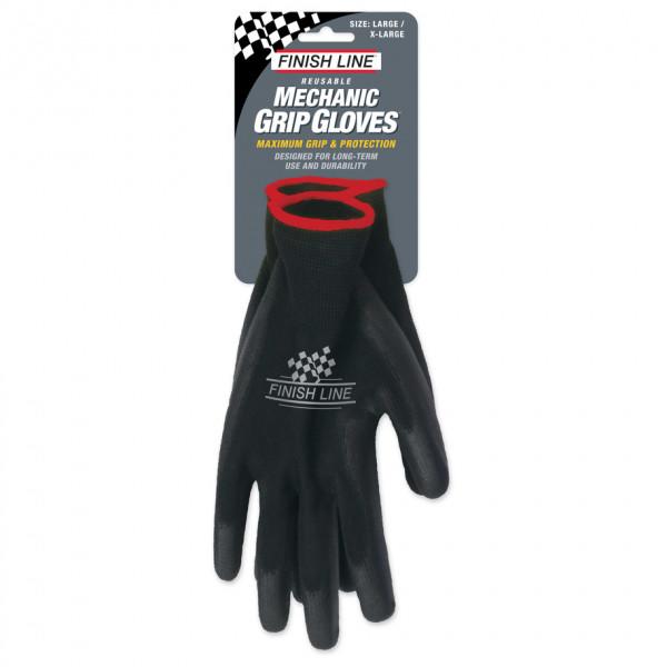 Finish Line - Mechaniker-Handschuhe schwarz