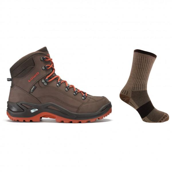 Lowa - Hiking shoe set - Renegade GTX Mid / Wrightsock