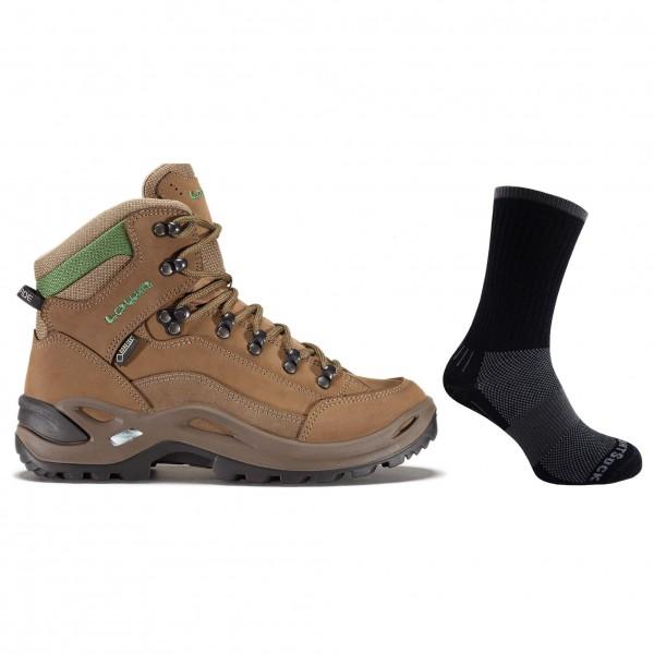 Lowa - Wanderschuh-Set - Women's Renegade GTX Mid/Wrightsock - Walking boots