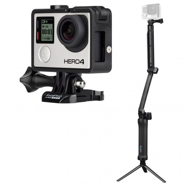 GoPro - Cameraset - Hero4 Black & 3-Way Grip