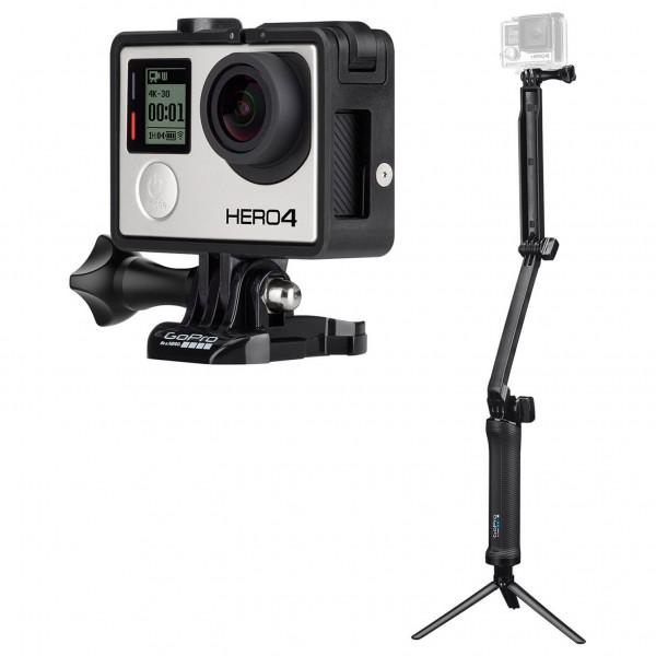 GoPro - Kamera-Set - Hero4 Black & 3-Way Grip