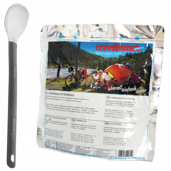 Travellunch - Trekking-Meal-Set - Kartoffel mit Rindfl&Spoon