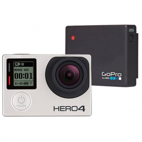 GoPro - Kamera-Set - Hero4 Silver & Battery Bacpac - Kamera