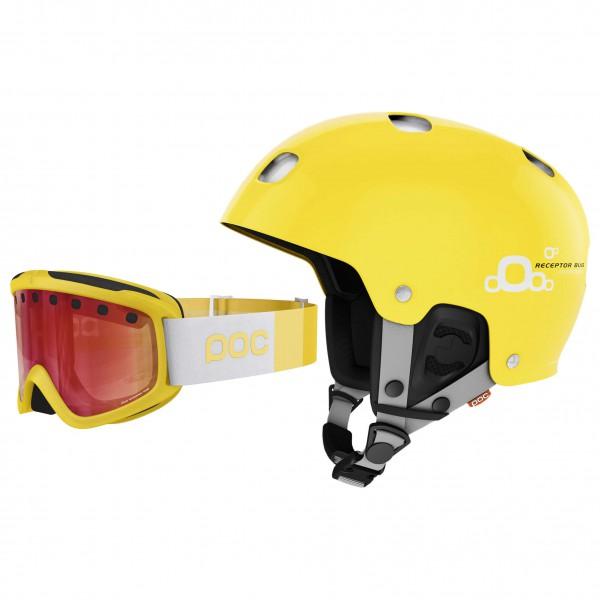 POC - Ski-Helm-Brillen-Set - Receptor Bug Adj & Iris Stripes - Casco de esquí