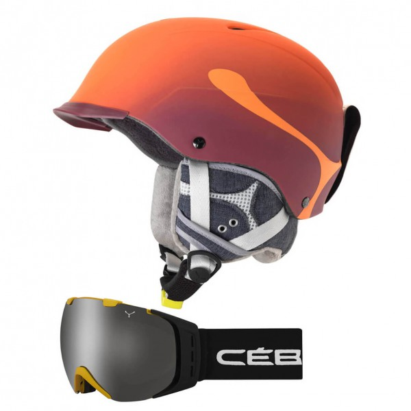 Cébé - Ski-Helm-Brillen-Set - Contest Visor Pro & Origins L - Skihelm