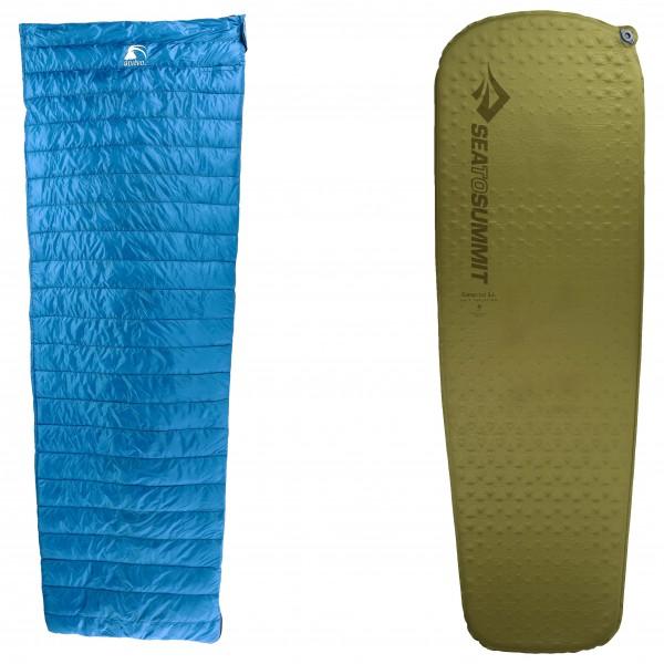 Alvivo - Schlafsack-Set - Ibex Travel Light - Camp Mat - Down sleeping bag
