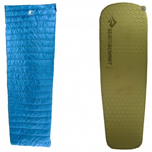 Alvivo - Schlafsack-Set - Ibex Travel Light - Camp Mat - Untuvamakuupussi
