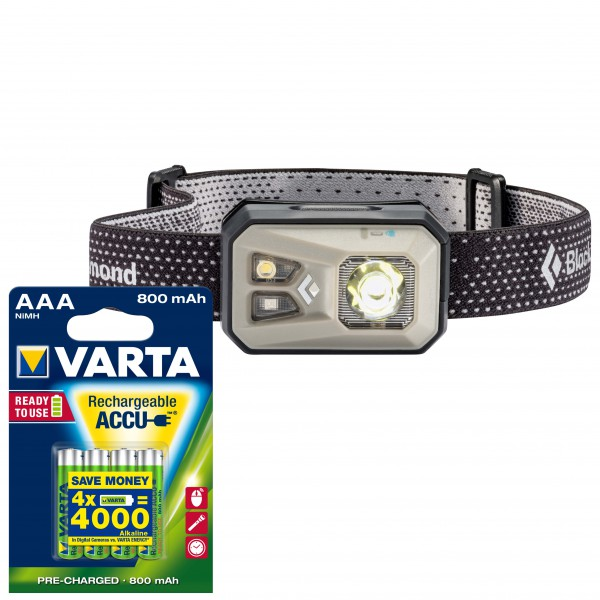 Black Diamond - Stirnlampen-Set - ReVolt - ACCU AAA 4er - Stirnlampe