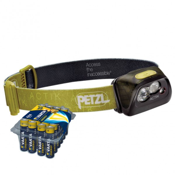 Petzl - Stirnlampen-Set - Actik - Energy AAA 24er - Pandelampe