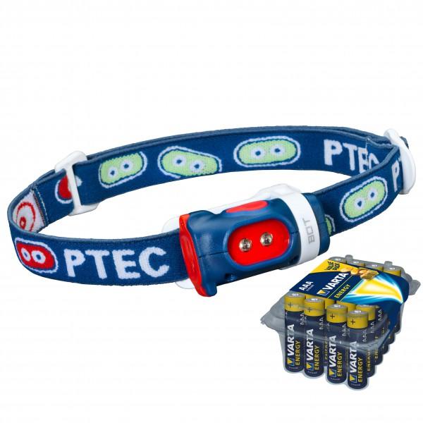 Princeton Tec - Stirnlampen-Set - Kids Bot - Energy AAA 24er - Stirnlampe