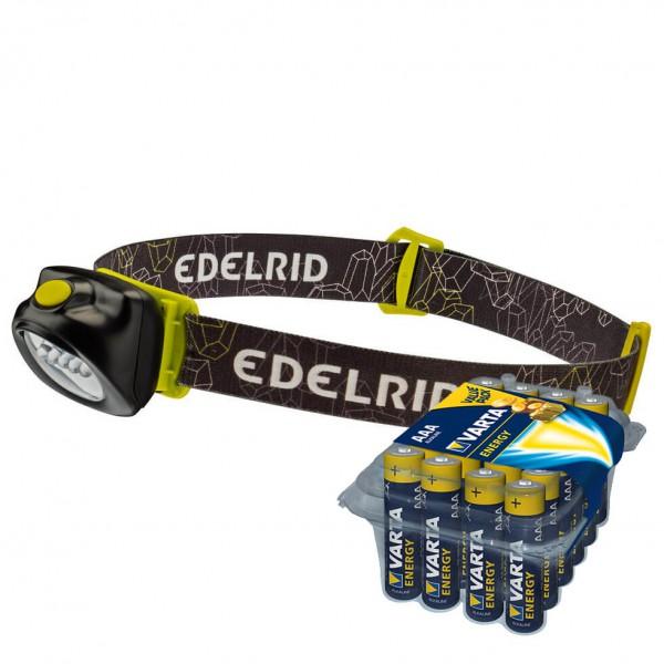 Edelrid - Stirnlampen-Set - Pentalite - Energy AAA 24er - Pannlampa