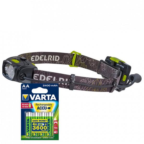 Edelrid - Stirnlampen-Set - Asteri - ACCU AA 4er - Stirnlampe