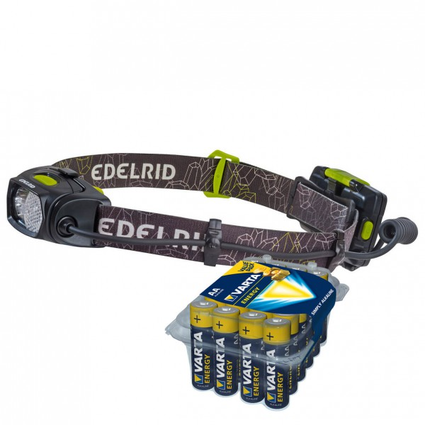 Edelrid - Stirnlampen-Set - Asteri - Energy AA 24er - Hodelykt