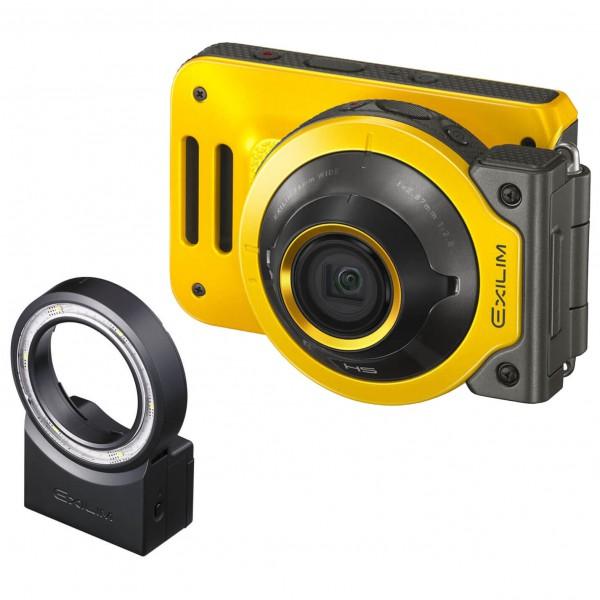 Casio - Kamera - Set Exilim EX-FR-100 - LED Ring Light - Camera
