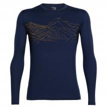 Icebreaker - Oasis L/S Crewe Topochartic - Merino underwear