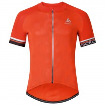 Odlo - Breathe Stand-Up Collar S/S Full Zip - Maillot de cyc