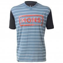 Mons Royale - Redwood V-Neck T-Shirt Box Logo - Pyöräilypusero
