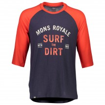 Mons Royale - Redwood 3/4 Raglan T Surf - Cycling jersey