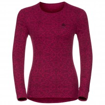Odlo - Women's Shirt L/S Crew Neck God Jul Print - Synthetisch ondergoed