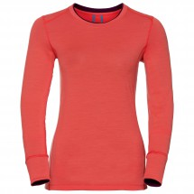 Odlo - Women's Shirt L/S Crew Neck Natural 100% Merino - Merinovilla-alusvaatteet