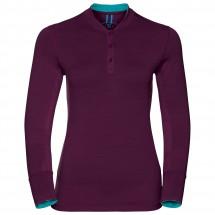Odlo - Women's Stand-Up Collar L/S Natural 100% Merino - Merinoundertøy