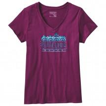 Patagonia - Women's Femme Fitz Roy Cotton V-Neck T-Shirt
