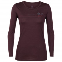 Icebreaker - Women's Tech Lite L/S Low Crewe Skis In Snow - Longsleeve