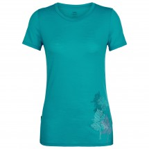 Icebreaker - Women's Spector S/S Crewe Through The Forest - T-paidat