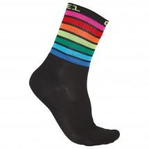 Alé - Q-Skin 16 cm Linea Rainbow Socks - Calcetines de ciclismo