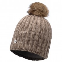 Buff - Women's Knitted & Polar Hat Glen Chic - Myssy
