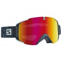 Salomon - Xview Black/Univ. Mid Red - Masque de ski
