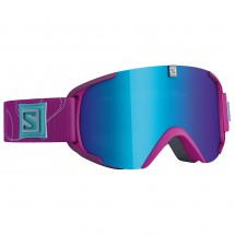 Salomon - Xview S Xtra L Rasberry/Solar Blue - Masque de ski