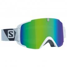Salomon - Xview White/Solar Green - Masque de ski