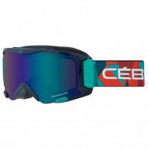 Cébé - Kid's Super Bionic S Brown Flash Blue - Masque de ski