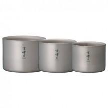 "Snow Peak - Titanium Stacking Mug ""Seppou"" - Set L"