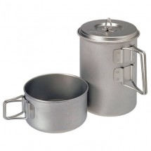 Snow Peak - Mini Solo Cook Set Titanium - Bestek-set