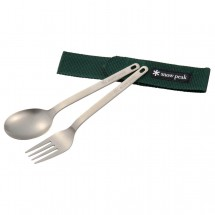 Snow Peak - Titanium Fork & Spoon Set I - Besteckset