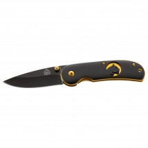 Puma Tec - Einhandmesser Gold Platinen 6,3 cm - Messer