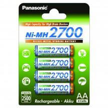 Panasonic - Akku Superlattice NIMH AA-Mignon 2700 mAh 4er