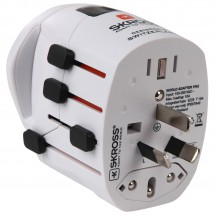 Skross - Adapter World Pro + Schuko - Pistokeadapteri