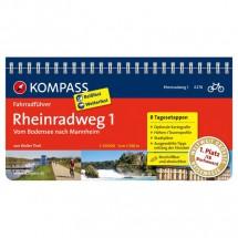 Kompass - Rheinradweg 1, vom Bodensee nach Mannheim