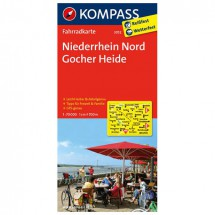 Kompass - Niederrhein Nord - Fietskaarten